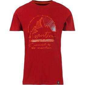 La Sportiva Connect T-shirt Herr chili